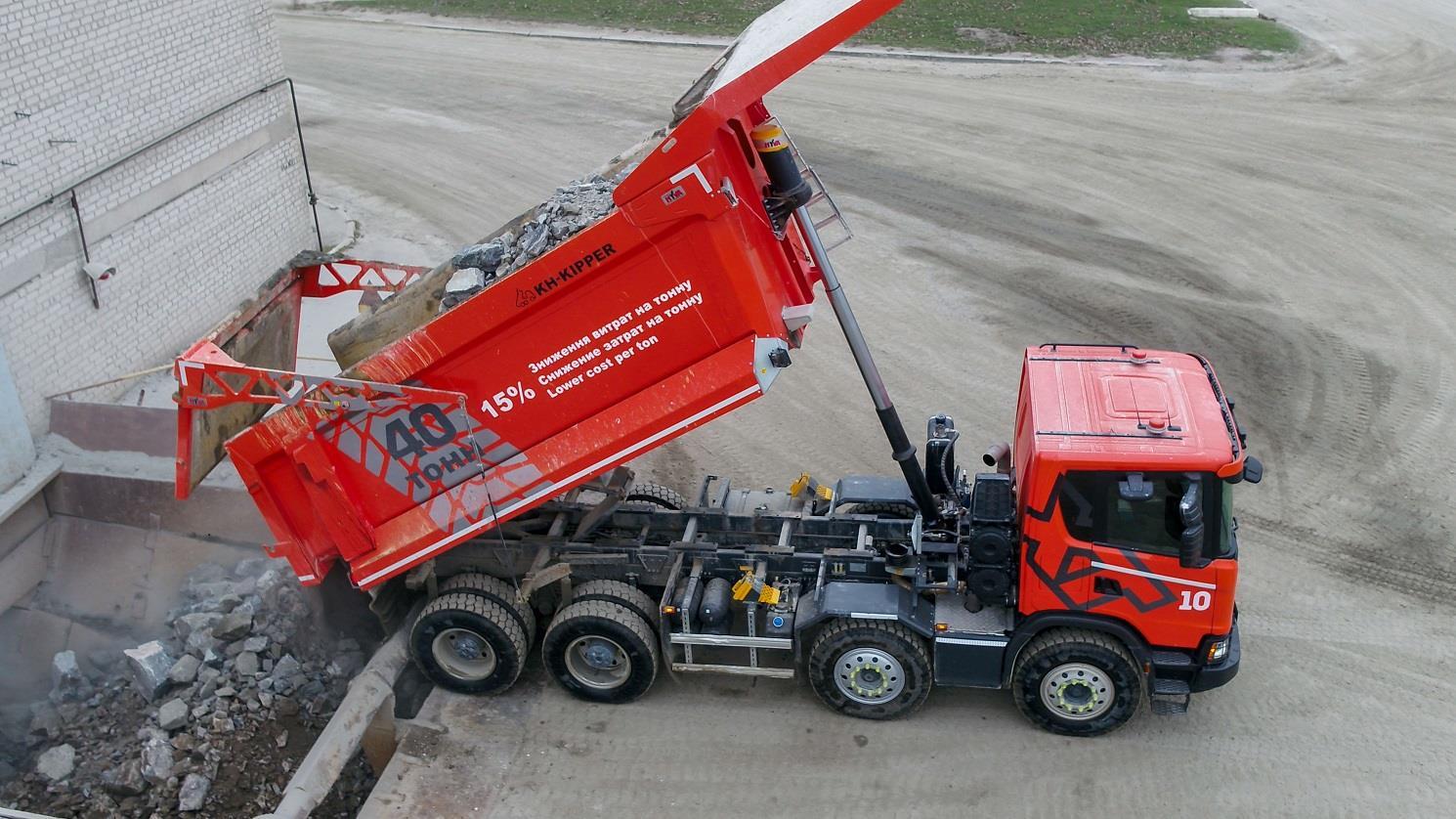 Первые результаты эффективности новых карьерных самосвалов Scania G440 8×4 XT в Украине