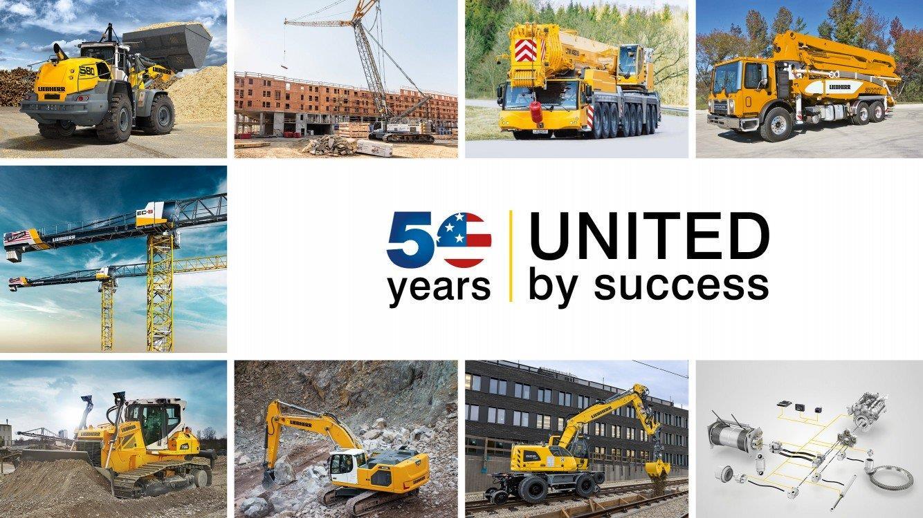 На CONEXPO Liebherr отметит 50-летний юбилей в США и представит новационную строительную технику