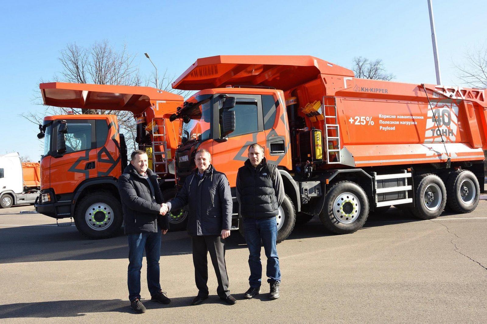 Томашгородский камнедробильний завод приобрел два карьерных самосвала Scania G440