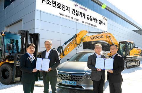 Hyundai Construction розробляє екскаватори на водневому паливі