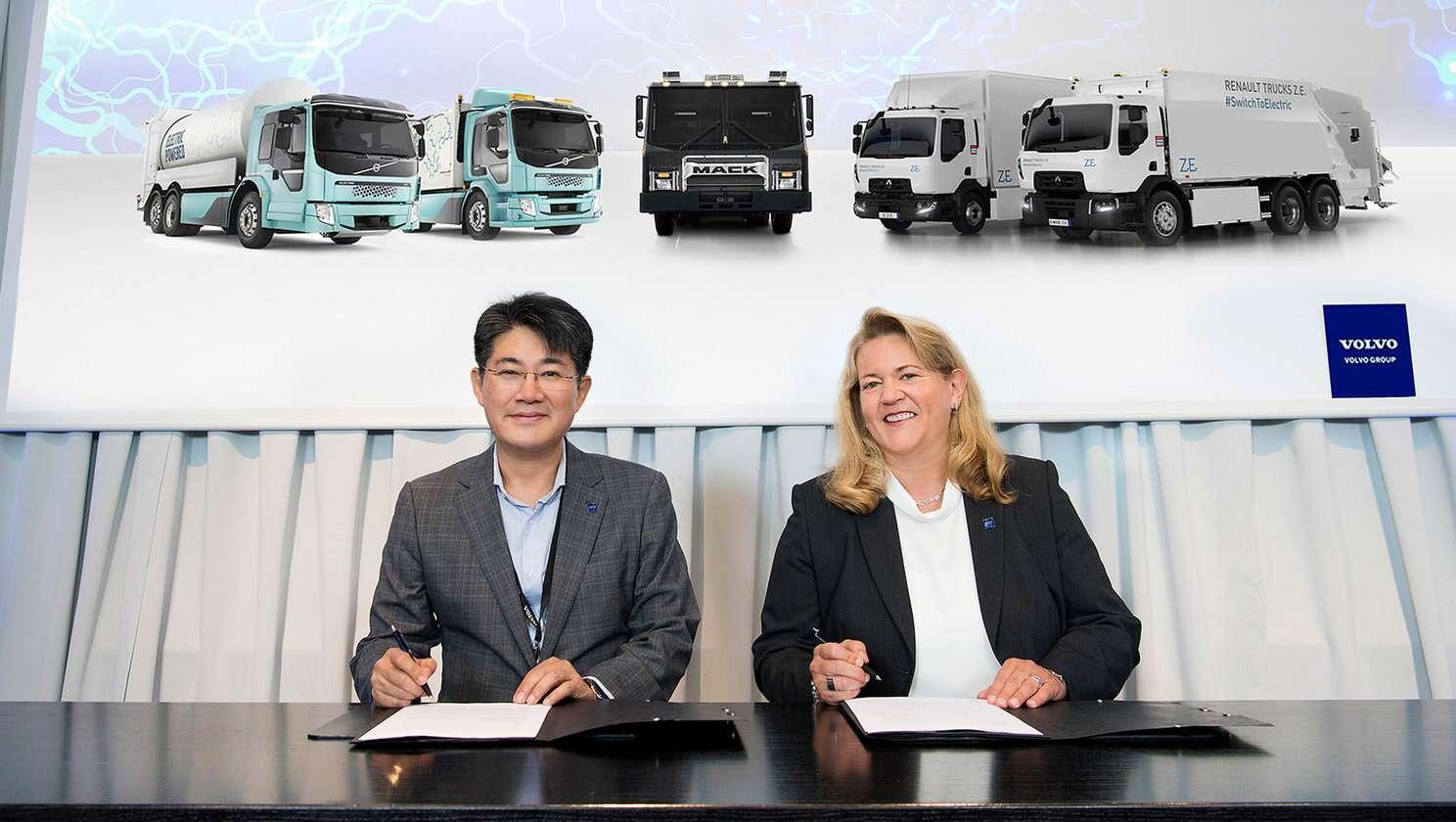 Volvo Group і Samsung спільно працюють над розробкою акумуляторних батарей для електровантажівок