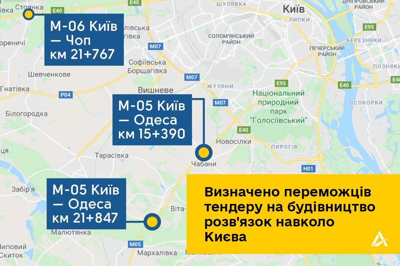 Будувати транспортні розв'язки на під'їздах до Києва буде азербайджанська компанія