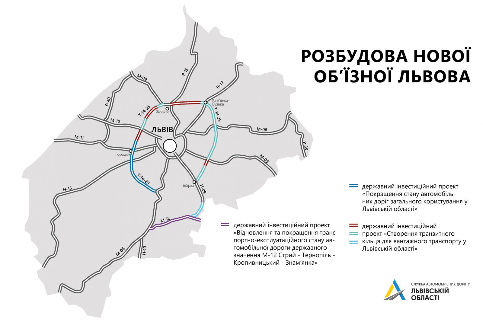 Сучасна об'їзна дорога навколо Львова - стартували дорожні роботи