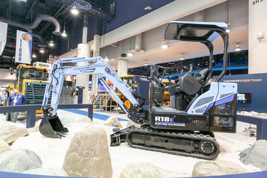 Hyundai разрабатывает электрический мини-экскаватор