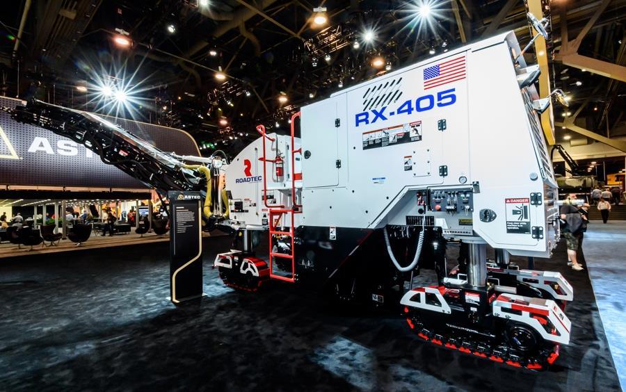 Roadtec випустила нові високопродуктивні дорожні фрези RX 405e і RX 505