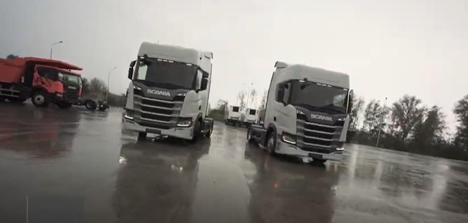 Scania поставила в Украину первые грузовые автомобили на метане