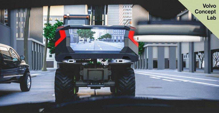 Volvo CE представила прототипэлектрического колесного экскаваторас видеопанелью