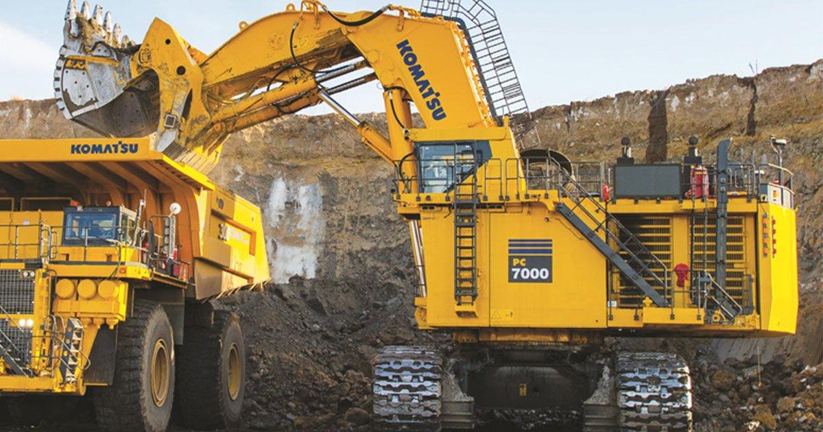 Komatsu – один из лидеров-производителей дорожно-строительной техники и горнодобывающего оборудования