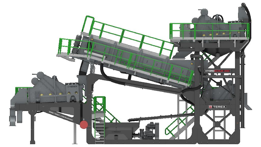 Terex Washing Systems анонсировала промывочную установку HydroScrub 200 для сектора вторичной переработки