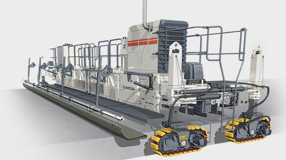 Обзор бетоноукладочного оборудования от компаний Power Curbers и Wirtgen