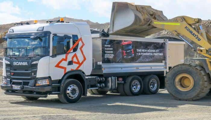 Пыль австралийских дорог на новеньком Scania G500 XT