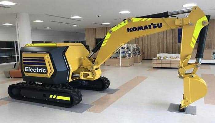 Komatsu представляє концепт електричного міні-екскаватора з дистанційним управлінням