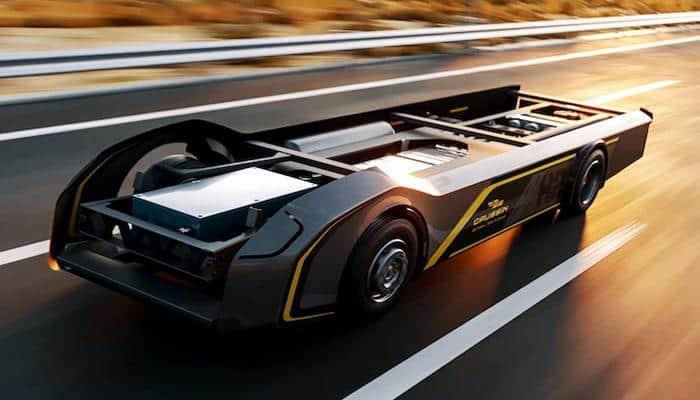 'Скейтборд' Gaussin на якому можна побудувати цілу вантажівку
