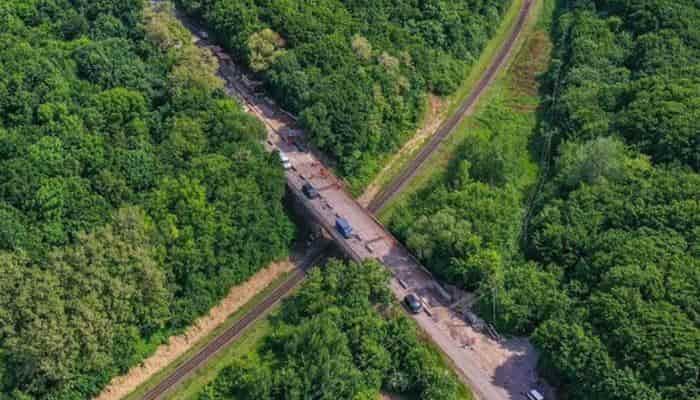 «СТЛ+М» начала ремонтировать 53-летний мост возле Красилова