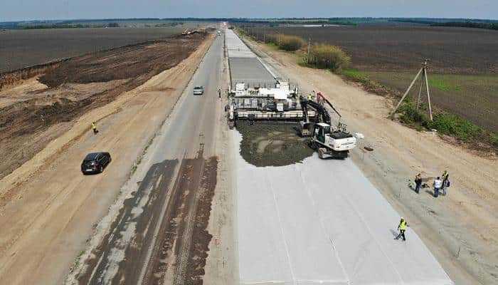 В Украине построят 1400 км цементобетонных дорог