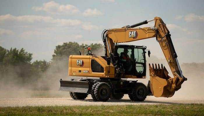 Новий колісний екскаватор Caterpillar M320 з 9-відсотковим збільшенням крутного моменту гідромотора повороту