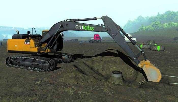 CM Labs додає платформу контролю ухилу Trimble Earthworks до симуляторів екскаваторів.