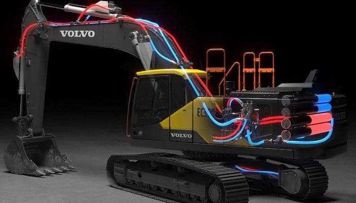 Инновационная электрогидравлическая система для экскаваторов получила награду Volvo Technology Award